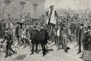 Из Парижа в Москву на ходулях, 1891 год